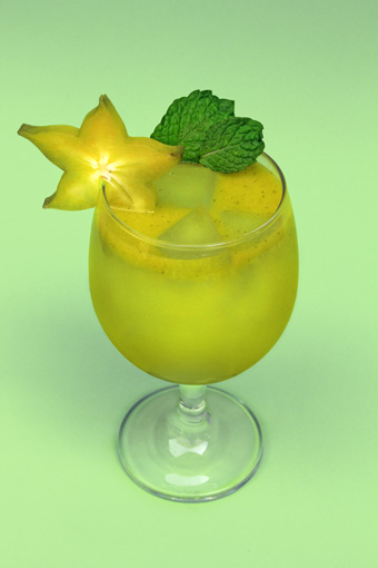 Carambola star-fruit cocktail